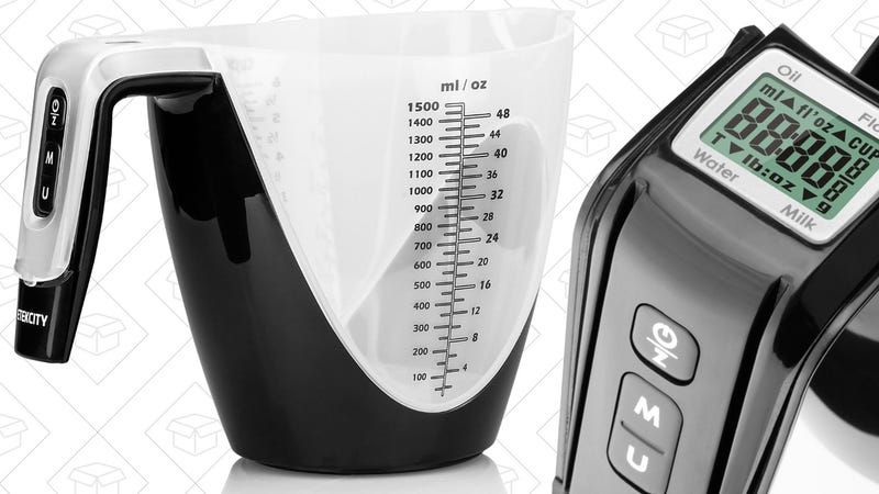 Etekcity 6-Cup Measuring Cup Food Scale, $14 with code F8YA6PGP