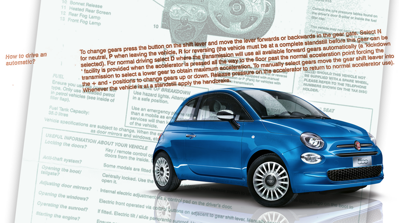 Illustration for article titled UK Rental Cars Come With Instructions On How To Drive An Automatic
