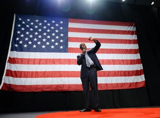 Republican presidential candidate Ben Carson speaks during a campaign rally at the Anaheim Convention Center Sept. 9, 2015, in Anaheim, Calif. Kevork Djansezian/Getty Images
