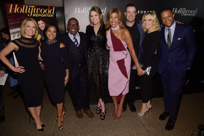 (L-R) Dylan Dreyer, Sheinelle Jones; Al Roker; Savannah Guthrie, Hoda Kotb, Carson Daly, Megyn Kelly and Craig Melvin attend the Hollywood Reporter's Most Powerful People In Media 2018 on April 12, 2018 in New York City.