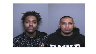 Willie James Clark and Brian Vega Salinas were arrested on suspicion of burglary after allegedly taking a bottle of cough syrup equipped with a GPS tracker from a Tustin, Calif., pharmacy.Tustin, Calif., Police Department