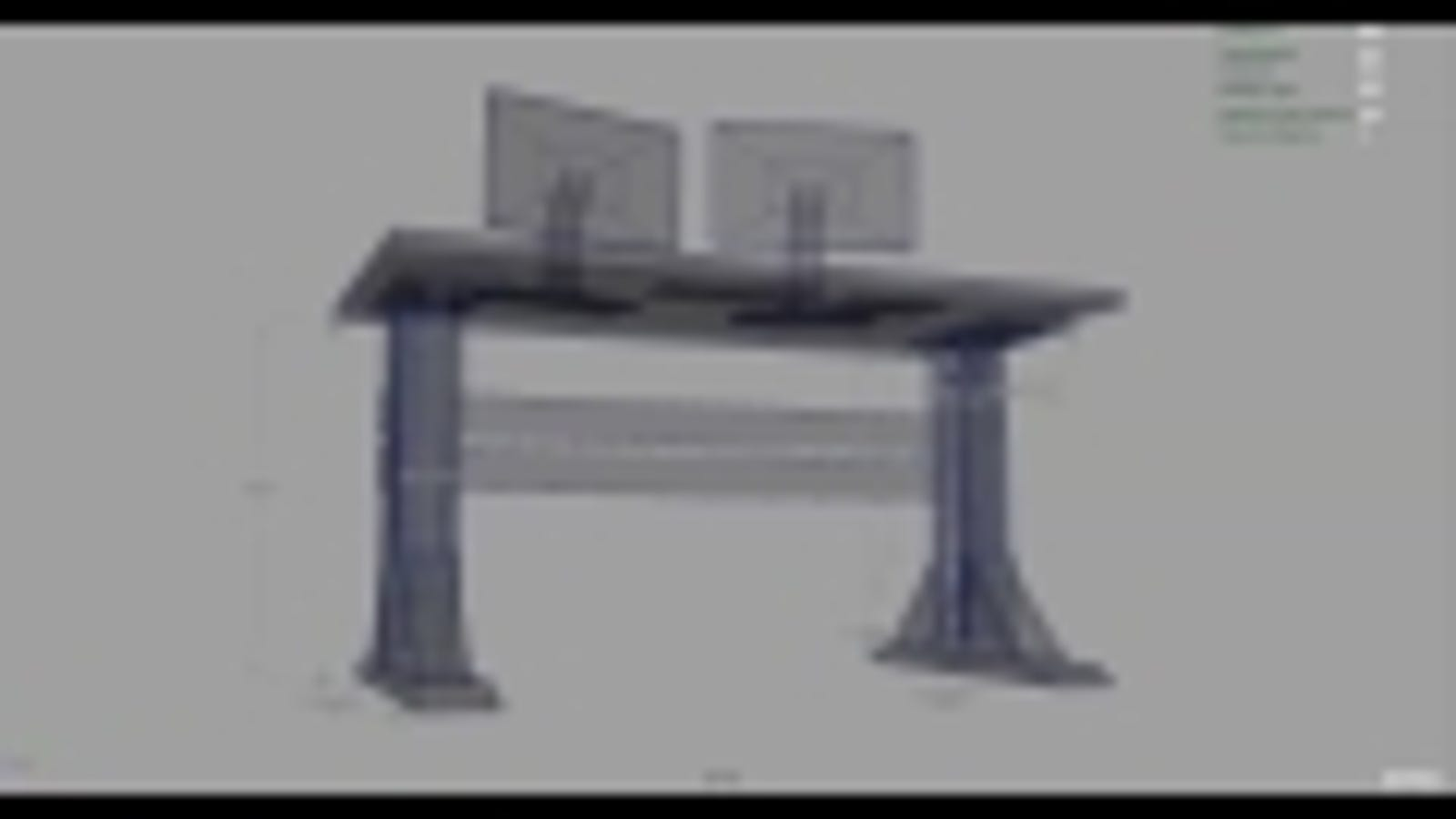 Build Your Own Electric Standing Desk - Electrically driven adjustable table legs