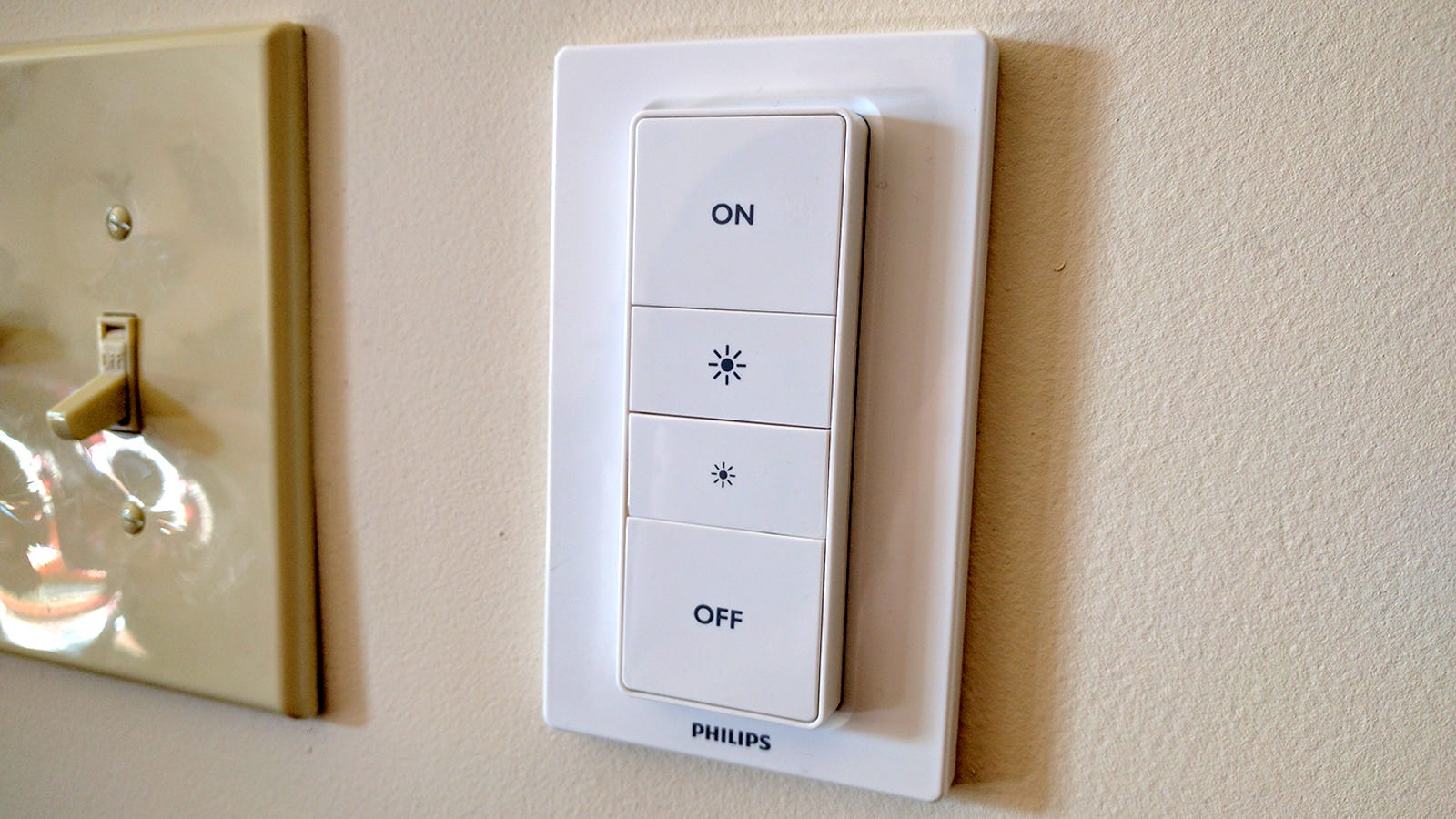 The Philips Hue Dimmer Kit Is Landlord Friendly Adds Dimmable 3 Way Switch Add Light Lights To Any Home