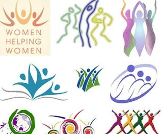 Lady Logos Must Include Ribbons Squiggles And Dancing Bodies