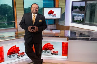 Roland Martin on the set of NewsOne NowJ Davis for TV One