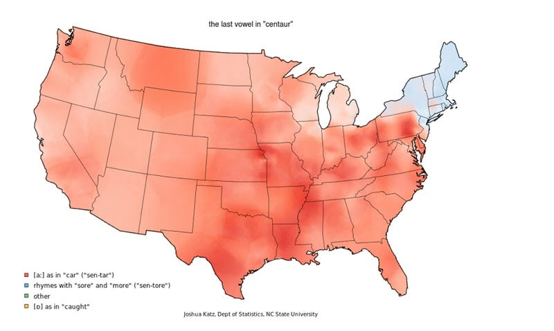 This quiz pinpoints your American dialect down to the town Dialect Map on