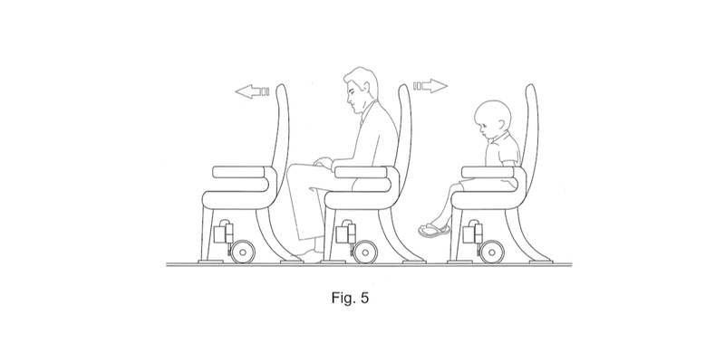 Illustration for article titled We Cannot Allow These Awful Sliding Airplane Seats to Become Real