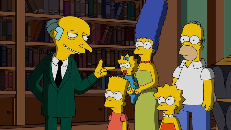 Monty Burs, The Simpsons (Photo: Fox)