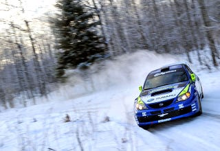Illustration for article titled Travis Pastrana Wins 2010 Sno*Drift Rally, Hearts of Northern Michigan