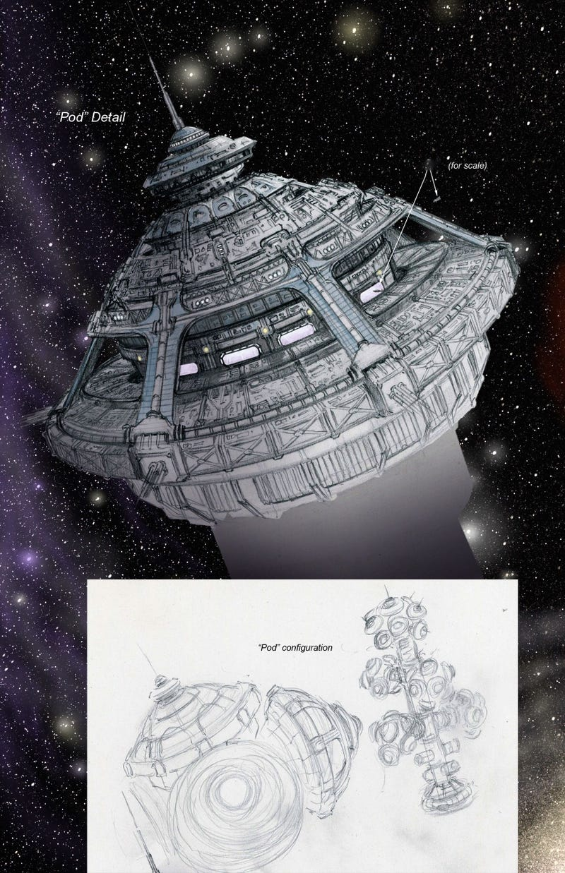 exclusive dark matter concept art is loaded with glorious spaceships
