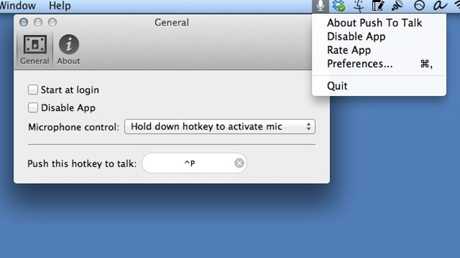Push to Talk Adds a Quick Toggle Mute Switch to Your Mac