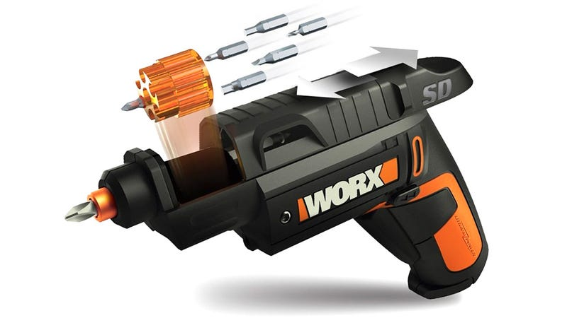 Illustration for article titled Swapping Bits On This Semi-Auto Screwdriver Is Like Reloading a Hand Gun