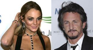 Illustration for article titled Lindsay Lohan & Sean Penn: Spotted Snuggling!!!???