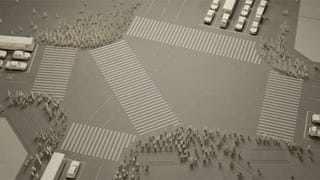 Japan's Busiest Intersection Recreated with 1,000 Paper People