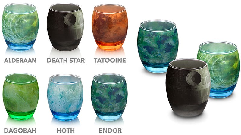 Illustration for article titled Buy a Set of Star WarsGlassware and Then Fight Over Who Drinks From the Death Star