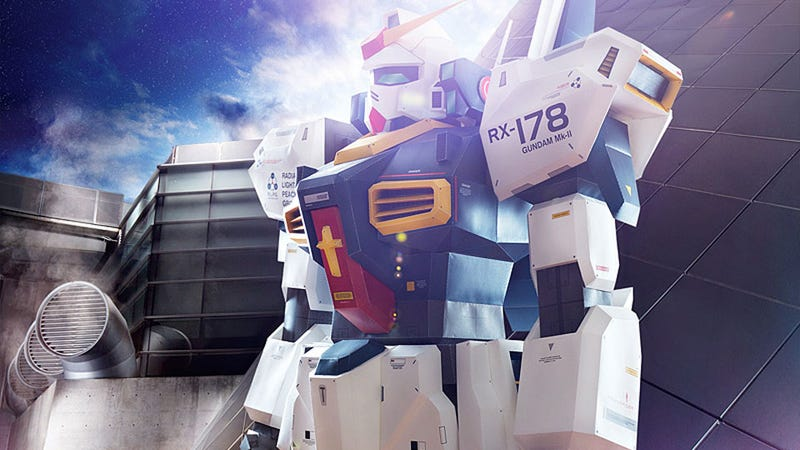 Illustration for article titled This Man-Sized Gundam Model is Amazing