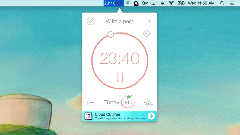 Pomodoro Time Is a Super Simple Timer That Lives in the Menu Bar