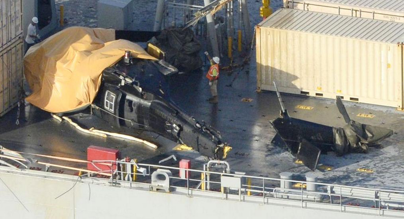 Illustration for article titled Video Emerges Of Spec Ops Black Hawk That Crashed On Ship Near Okinawa