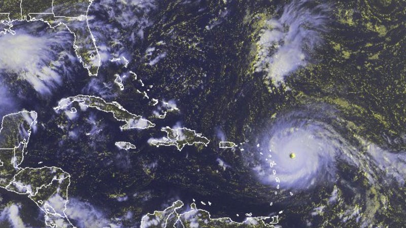 A National Oceanic and Atmospheric Administration satellite photo of Hurricane Irma. Photo: AP