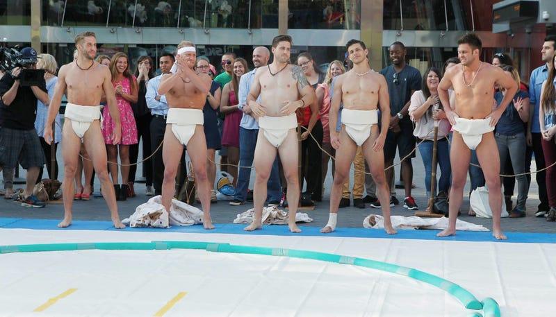 Illustration for article titled Sumo Butts and 'Villains Gotta Vil': Last Night Was Peak Bachelorette