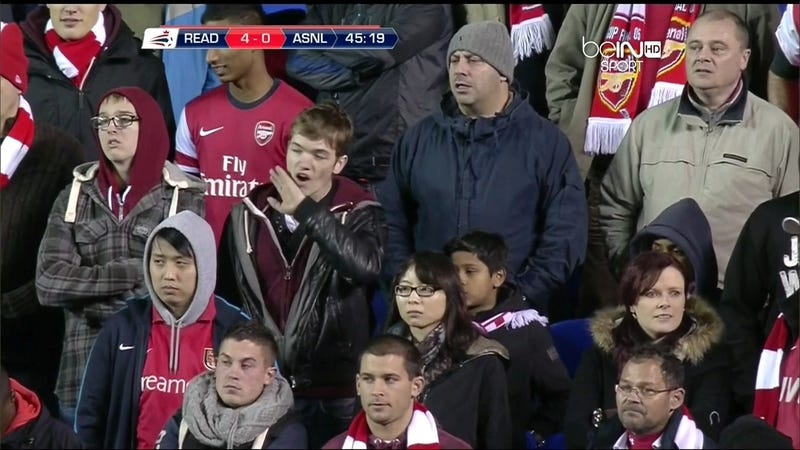 Illustration for article titled Sad Arsenal Fans Are Sad