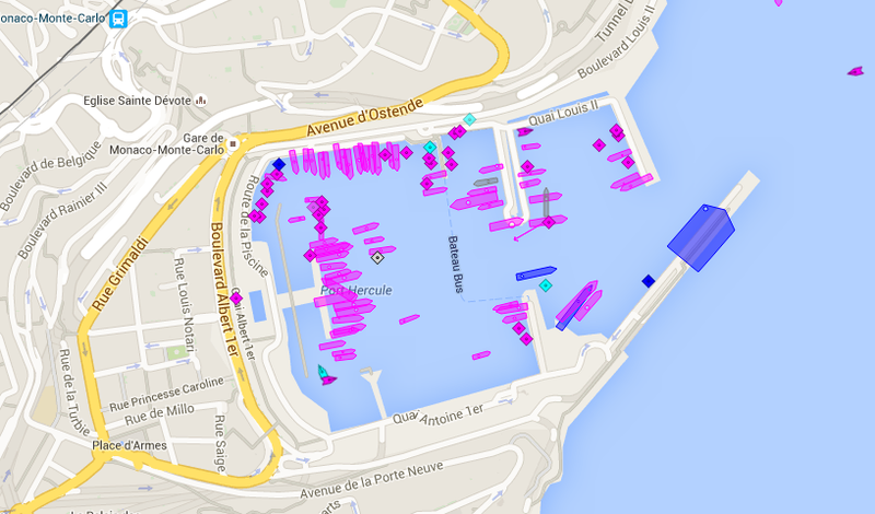 Illustration for article titled This Website Lets You See All The Yachts At Monaco