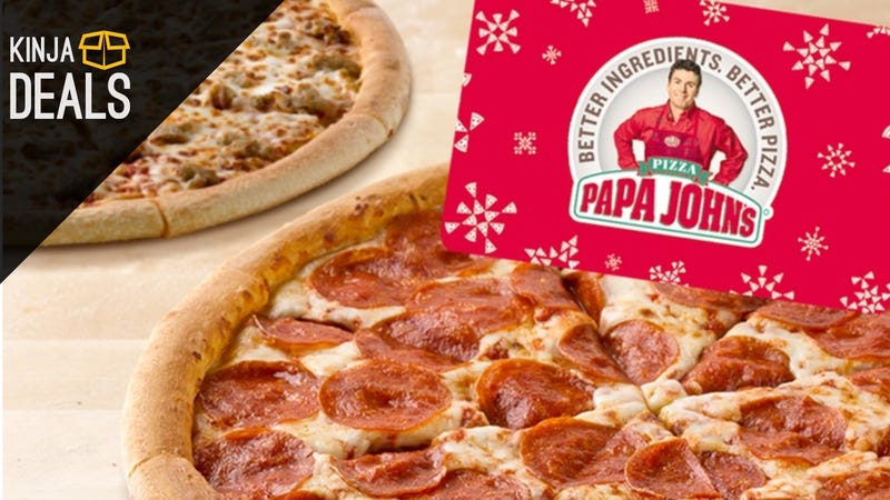 Illustration for article titled Buy a $25 Papa John's Gift Card, Get Two Bonus Pizzas For Free