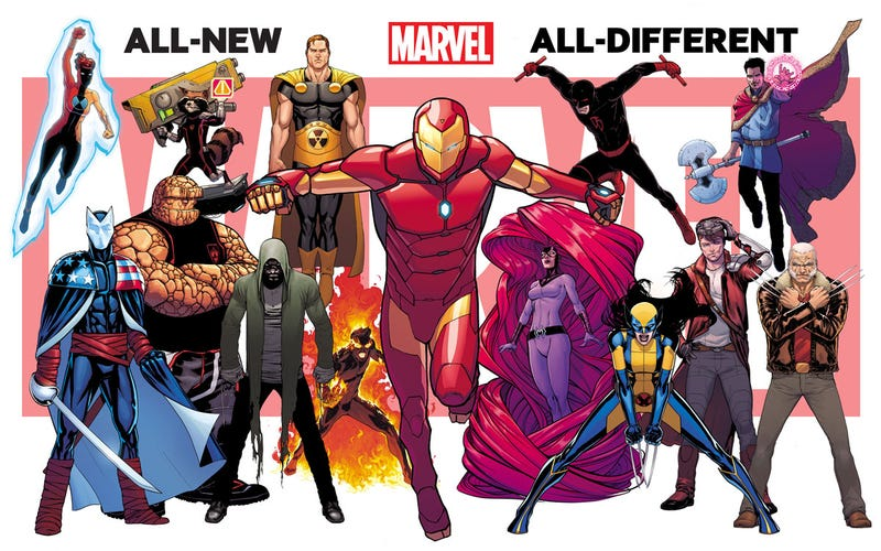 "Illustration for article titled New ""All-New, All-Different Marvel"" Image Gives Us Something New"