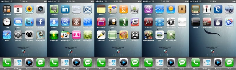 Illustration for article titled Five Screens of Jailbroken iPhone Apps
