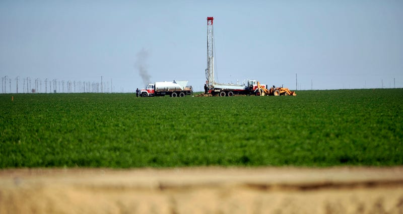 Drilling for groundwater in a California alfalfa field. AP Photo/Russel A. Daniels