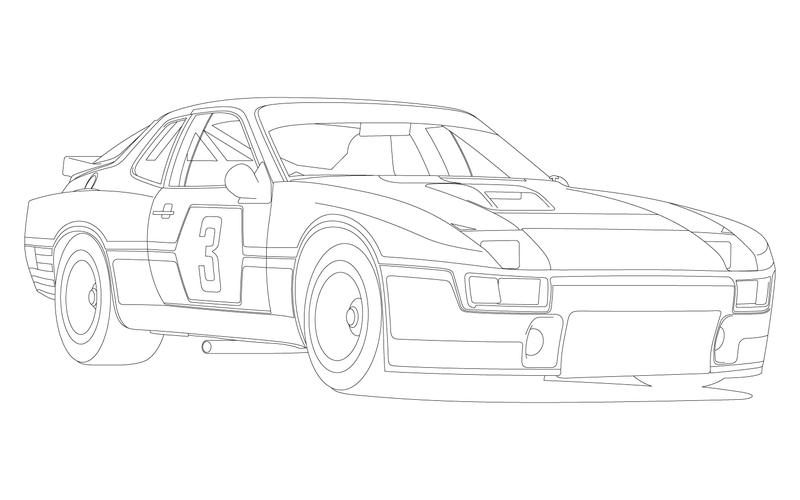 Illustration for article titled Porsche 924 Carrera GT LM: Illustrated