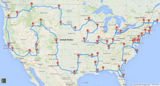 """Illustration for article titled The """"Perfect"""" U.S. Road Trip"""
