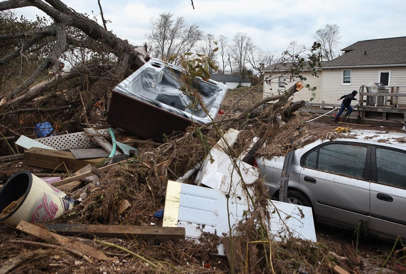 Destruction caused by Hurricane Sandy in Staten Island, N.Y. (John Moore/Getty Images)