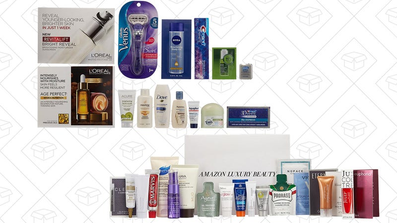 Beauty Sample Box with $12 credit, $12 | Luxury Beauty Box with $20 credit, $20