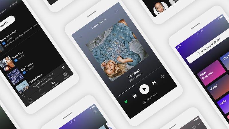 Illustration for article titled Las cuentas gratuitas de Spotify dejan de estar condenadas a la reproducción en aleatorio
