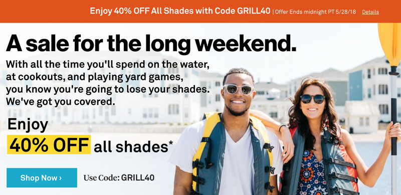 40% off Sitewide | Sunglass Warehouse | Use code GRILL40