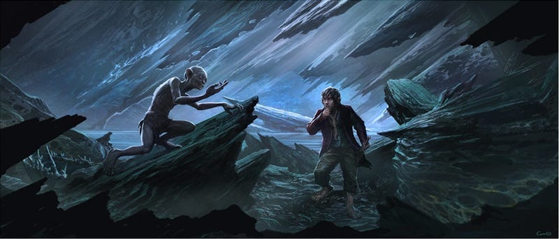 Illustration for article titled You can own this shiny Weta artwork from The Hobbit