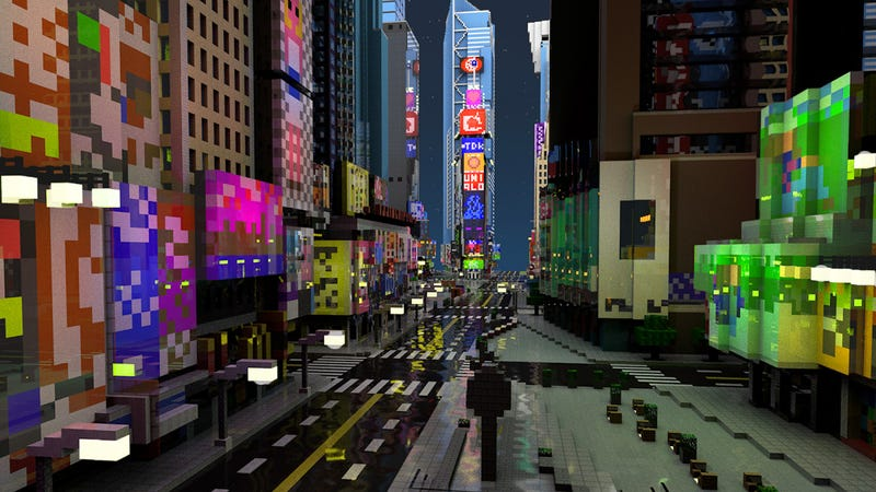 Minecraft times square is way less crowded for Things to do around times square