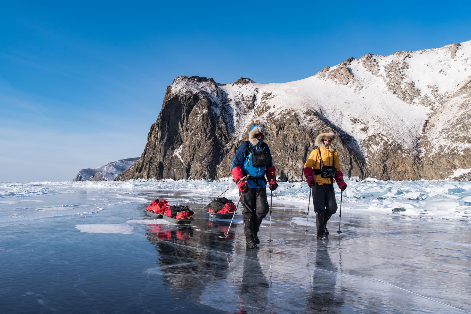 As I Walked Onto Ice I Kept In Mind >> Three Men Crossed Frozen Lake Baikal And Chased More Than A World