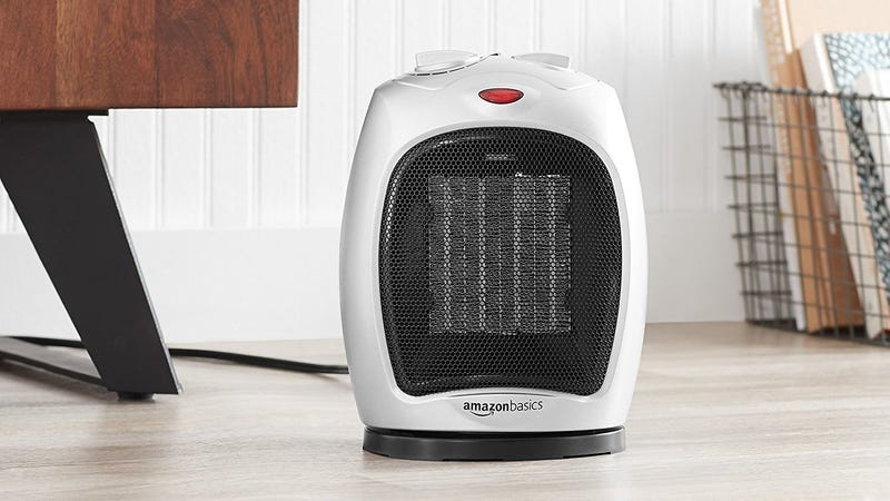 AmazonBasics 1500 Watt Oscillating Ceramic Space Heater | $24 | Amazon