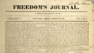 Freedom's Journal,March 30, 1827The Freedom Journal