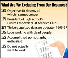 Illustration for article titled What Are We Excluding From Our Résumés?