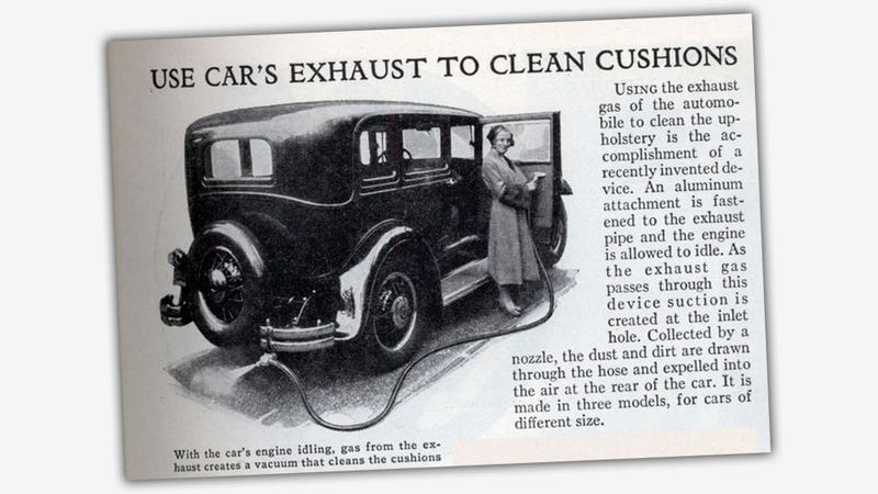 Illustration for article titled People Used To Clean Their Car Interiors With Exhaust