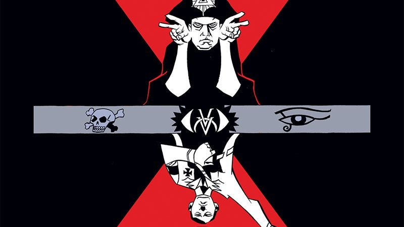 Illustration for article titled Dark Horse exclusive: Aleister & Adolf explores the crossroads of magic and fascism