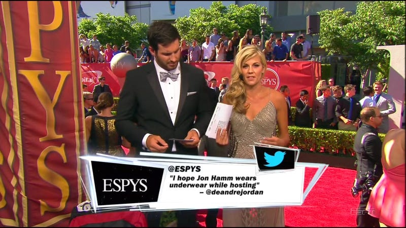 "Illustration for article titled ESPN Aired DeAndre Jordan's ""Jon Hamm Has A Big Dick"" Joke"