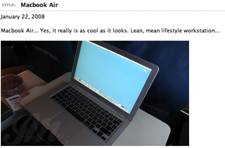 Illustration for article titled John Mayer Has a MacBook Air