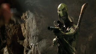 Illustration for article titled New John Carter footage shows off Martian super-leaping and gigantic, lovable lizard-dogs
