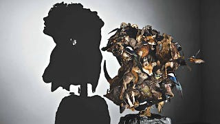Illustration for article titled Gruesome shadow art transforms garbage and mummified rats into severed heads