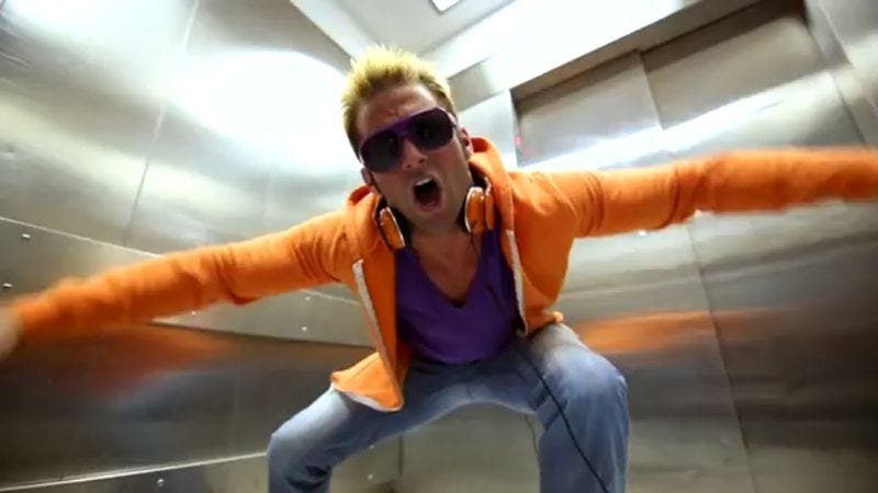 """Illustration for article titled Today in """"Oh God what is even happening here"""": Wrestler Zack Ryder's """"Hoeski"""" music video"""