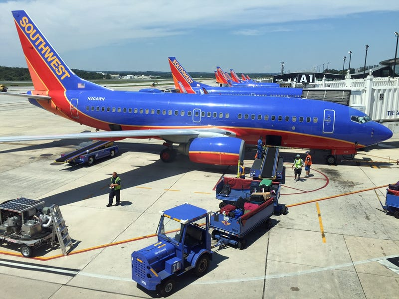 Southwest Airlines planes sit at their gates at Baltimore-Washington International Airport on Aug. 15, 2015, in Baltimore.